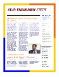Gyan vihar isbm newsletter first issue
