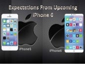 Upcoming iphone 6 expectations