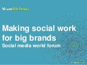 Making social work for big brands a...