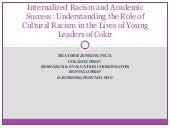 Internalized Racism and Academic Su...
