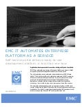 EMC IT Automates Enterprise Platform as a Service
