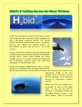 H2bid's e bidding service for water utilities