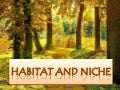 Habitat and niche report