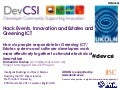DevCSI Project and working with Estates Managers and Greening ICT experts