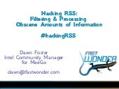 Hacking RSS: Filtering & Processing...
