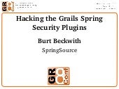 Hacking the Grails Spring Security ...