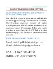 HADOOP ONLINE TRAINING AND JOB SUPP...