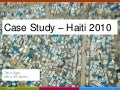 2010 Haiti earthquake response - case study