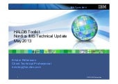 HALDB Toolkit present - IMS UG May 2013 Stockholm