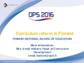 Curriculum reform in finland 2012 2...