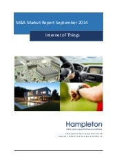 Hampleton m&a market report internet of things september 2014