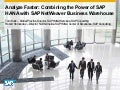Analyze Faster: Combining the Power of SAP HANA with SAP NetWeaver Business Warehouse
