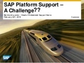 SAP Platform & S/4 HANA - Support for Innovation