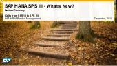 What's New in SAP HANA SPS 11 Backup and Recovery (Operations)