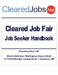 ClearedJobs.Net Cleared Job Fair Job Seeker's Handbook May 13th BWI Westin