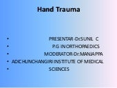 Hand injuries by Dr.SUNIL C