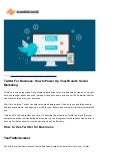 Twitter For Business: Boost Your Brand's Social Marketing