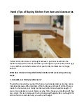 Handy tips of buying kitchen furniture and accessories