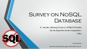 Survey on NoSQL Database