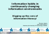 Information habits in continuously...
