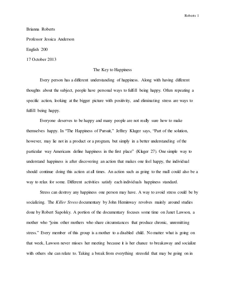 Supernatural Definition Essay On Happiness - Essay for you