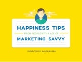 Happiness Tips from Savvy Marketers