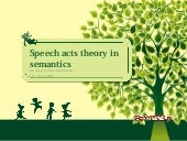 speech act theory in semantics