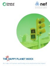 Happy Planet Index First Global