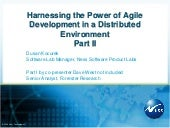 Harnessing Agile Development In Dis...