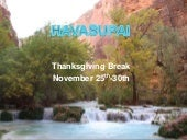 Havasupai thangksgiving 2014