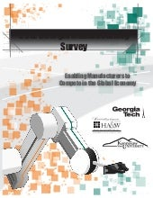 2012 Georgia Manufacturing Survey
