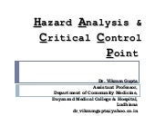 Hazard analysis & critical control ...