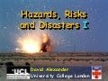 Hazards Risks Disasters 1
