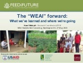 "The ""WEAI"" forward: what we've learned and where we're going"