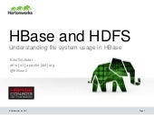 HBase and HDFS: Understanding FileSystem Usage in HBase