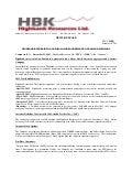 Highbank Enters Into Non-Disclosure Agreement With Major U.S. aggregate and cement producer