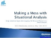 Making a Mess with Situational Analysis