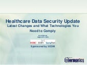 Healthcare Data Security Update