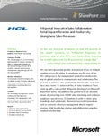 HCL's innovative sales collaboration platform based on SharePoint 2010, impacting Revenue and Productivity, Strengthening Sales Processes