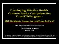 Developing Effective Health Communication Campaigns for Your STD Program