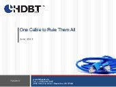 "HDBaseT - ""One Cord to Rule Them All"""