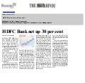 HDFC Bank net up 30 per cent