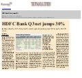 HDFC Bank Q3 net jumps 30%