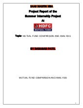 Hdfc finance project report