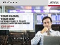 Hitachi Cloud Strategy, Enabling Technologies, and Solutions
