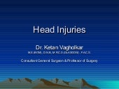 Head injury: A serious surgical pro...