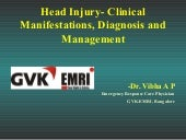 Head injury  types, clinical manife...