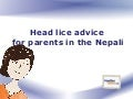 Head lice advice for parents in Nepali