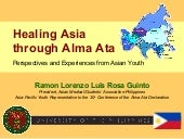 Healing Asia Through Alma Ata