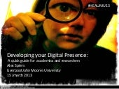 Developing your Digital Presence: A...